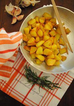 Patate arrosto in padella - Pane, burro e alici