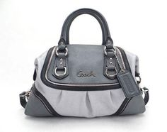 398 Coach Ashley Spectator Gray Metallic Silver Handbag Purse RARE 17455    eBay Trendy Handbags, e99e4b2698