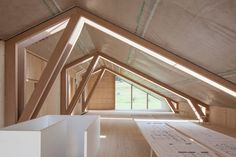 """Joinery firm Anton Mohr won the """"Vorarlberger holzbau_kunst"""" timber construction award for the design of its imaginative yet understated timber structure Mountain Home Exterior, Wood Truss, Timber Architecture, Timber Roof, Steel Roofing, Tin Roofing, Roofing Shingles, Asphalt Shingles, Fibreglass Roof"""