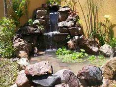 como hacer una fuente con piedras de rio buscar con google