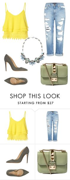 """Simple & Class"" by johann-ann ❤ liked on Polyvore featuring Glamorous, Genetic Denim, Armani Collezioni and Valentino"