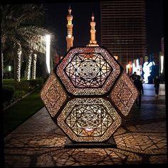 Sharjah  Islamic arts festival.  Light.  Nour. Yelana filipchuk and Serge Beaulieu. #sharjahart #sharjahartmuseum #mysharjah #inspiration  #lightsculpture #nour #yelenafilipchuk #sergebeaulieu #architecture #uae #islamicartsfestival #almajazwaterfront #publicart #lasercut #geometry #divine geometry @hybycozo by benjohnsonart