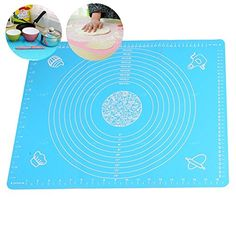 Tobway Large Massive Pastry Fondant Silicone Work Rolling Baking Mat with Measurements GJD01Blue >>> For more information, visit image link.