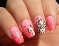 The Aristocats 'Marie' Nails