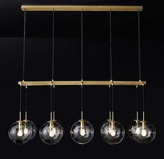 RH Modern's All Ceiling Lighting Linear Lighting, Linear Chandelier, Luxury Lighting, Pendant Chandelier, Interior Lighting, Lighting Design, Pendant Lighting, Dining Lighting, Contemporary Pendant Lights