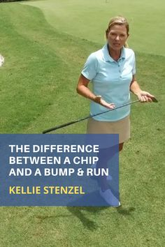 Once you get more experienced with your short game it is time to introduce the bump and run shot. #golf #golftip #golfswing #golflessons #womensgolf Golf Wedges, Golf Chipping Tips, Golf Books, Golf Score, Best Golf Courses, Golf Instruction, Golf Putting, Golf Exercises