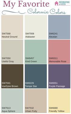 My Favorite Paint Colors from Sherwin Williams Colormix 2016 - Check out these color ideas for your home