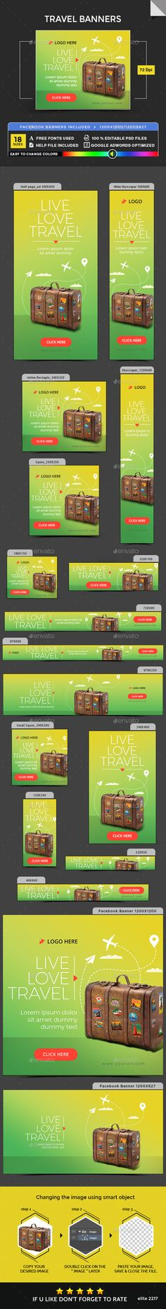 #Travel #Banner #Template - #Banners & #Ads #Web #Elements #Design. Download here: https://graphicriver.net/item/travel-banners/19837102?ref=yinkira