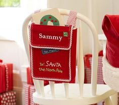 Letters to Santa Chairbacker #PotteryBarnKids