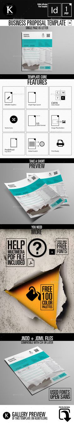 Social Media Business Solution Proposals and Brochures - letter of proposal