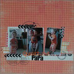 Layout by Susanne Vowinkel | janalenas Blog: Quatsch mit Papa Layouts, Baseball Cards, Storage, Blog, Home Decor, Purse Storage, Decoration Home, Room Decor, Larger