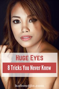 Huge Eyes 8 Tricks You Never Knew Big eyes are what most women want to achieve with their makeup, whether for a big day out or even for day to day casual make up. Here are some awesome huge eyes tricks you probably didn't know! Classy Makeup, Elegant Makeup, Dramatic Makeup, Glam Makeup, Party Makeup, Makeup Tips, Eye Makeup, Makeup Ideas, Wedding Makeup