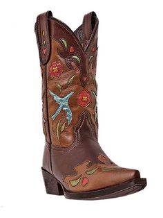 Dan Post Western Boots Girls Cowboy Bluebird Kids Chocolate DPC2154 #DanPost #Boots