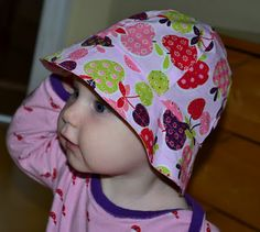 Summer hat tutorial with pattern summer hat – instructions and cut Sewing Patterns For Kids, Sewing Projects For Kids, Sewing For Kids, Baby Sewing, Baby Sun Hat, Baby Hats, Sunshine Online, Little Miss Sunshine, Hat Tutorial