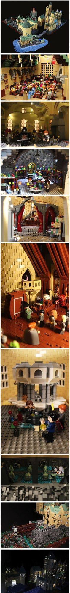 Ein Jahr, 400.000 Legosteine und fertig ist das Hogwarts Duplikat