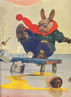 Harry Rountree Illustrates Brer Rabbit Going Fishing