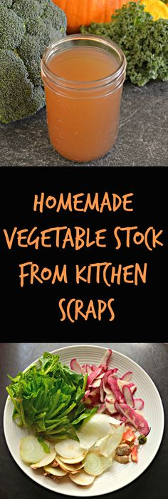 Make your own vegetable stock/broth with your kitchen scraps. It's so easy!