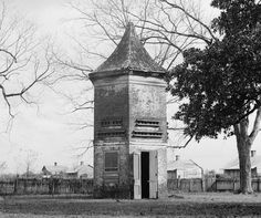 Hexagonal pigeonnier with a pointed roof at Uncle Sam Plantation near Convent, Louisiana