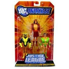 DC Universe Justice League Unlimited Black Vulcan, Apache Chief, and Samurai