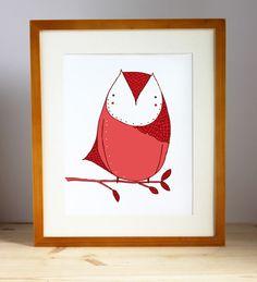 April Owl Art Print