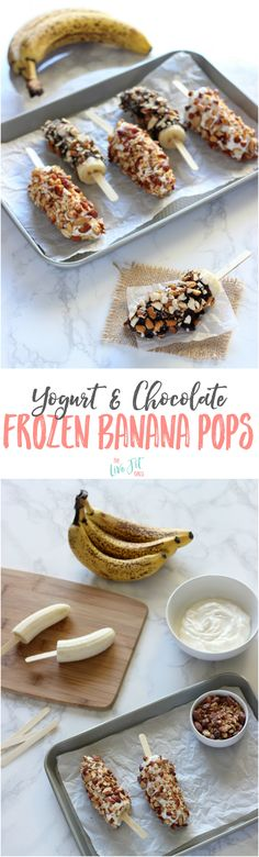 Everyone needs a little treat sometimes! These Healthy Banana Pops are the perfect option to keep you on track! @bluediamond #ad
