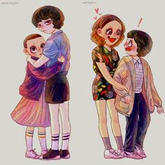 I don't ship it but this is kinda cute Stranger Things Characters, Stranger Things Kids, Stranger Things Have Happened, Stranger Things Season, Stranger Things Netflix, Starnger Things, Stranger Danger, Millie Bobby Brown, Movies Showing