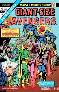 Giant Size Avengers #4 : The Vision and Scarlet Witch wedding°°