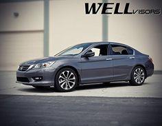 WellVisors For 16-Up Honda Civic Sedan 19-Up Insight Window Visors Rain Guards