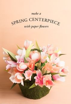 Spring is all about the flowers and tulips! Check out the blog to learn how to make a spring centerpiece made out of paper flowers and you guessed it paper tulips!