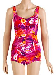 Shirred Front Swimsuit: