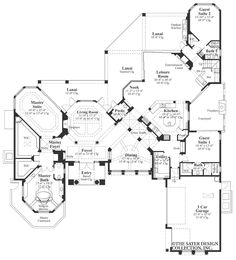 House Plan The Sherbrooke | Sater Design Collection | Luxury House Plans