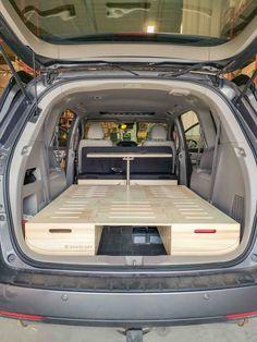 Order your camper conversion kit Roadloft Minivan Camper Conversion, Suv Camper, Mini Camper, Camper Life, Pickup Camper, Honda Odyssey, Motorhome, Van Bed, Station Wagon