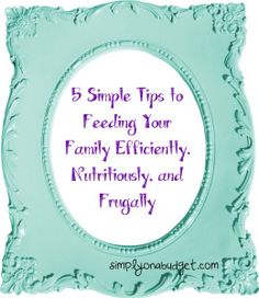 5 Simple tips for feeding your family - Simply on a Budget