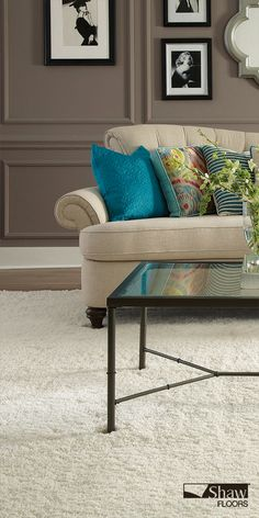 Easy on the eye and soft under foot, a custom 'Celeb' rug is an island of comfort unto itself, beckoning all to glide across its fibers. An excellent option for a comfortable flooring solution in a living room or family room.