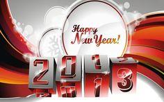 2013 Happy New Year 3D Wallpaper