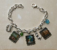 Custom Trilogy 3 charms Charm Bracelet by TheBookSwagShop on Etsy, $10.00