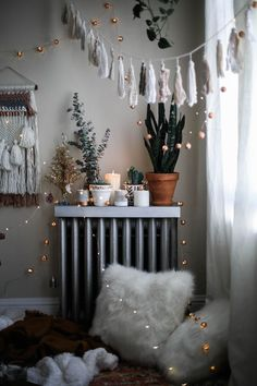 cozy bohemian holiday decorations