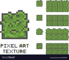 Pixel art 8 bit game sprite green vector image on VectorStock Pixel Art Background, Textured Background, 8 Bit, Game Design, Geek Cross Stitch, Pixel Characters, Pixel Art Games, Minecraft Pixel Art, Summer Landscape