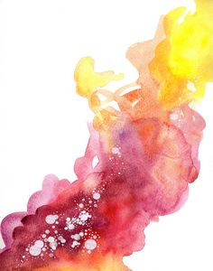 interesting watercolor paint splatter mixed in with connect the dots sort of detail. may be challenging but it fits with the theme Abstract Watercolor, Watercolour Painting, Abstract Art, Watercolor Splatter, Painting Art, Watercolor Tattoo, The Design Files, Paint Splatter, Art Inspo