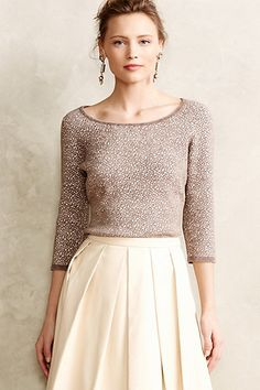 Chenille Jacquard Pullover #anthrofave #anthropologie