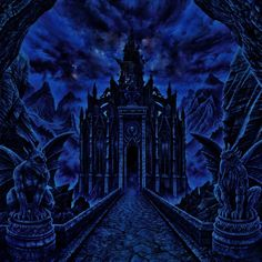 The album cover of Nocturnal from the Black Dahlia Murder. Just removed the writing because the artwork is so beautiful. Gothic Castle, Gothic Fairy, Dark Fantasy, Fantasy Art, The Black Dahlia Murder, Dark Gothic, Gothic Architecture, Death Metal, Occult