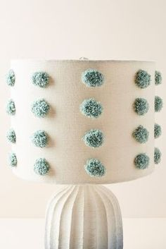 Tufted Bungalow Lamp Shade by Anthropologie in Blue, Lighting Unique Lamps, Unique Lighting, Decorative Lighting, House Lamp, Tiffany Lamps, Bedroom Lamps, Interior Lighting, Room Interior, Interior Design
