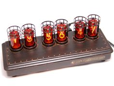 We Got A New With German Nixies In Case Of Solid Beech Find This Pin And More On Past Indicator Nixie Clocks