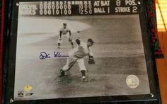Don Larsen 1956 World Series Perfect Game Autographed Mounted Photo With COA / Vangoe.com