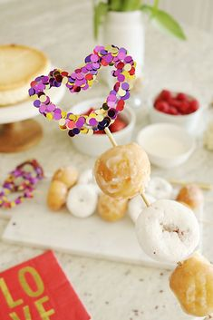 These DIY confetti skewers are the easiest to make and cutest party DIY idea for a cake topper, doughnut or fruit skewers or just to add any kind of personalized party decorations.