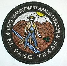 DEA EL PASO TEXAS POLICE PATCH