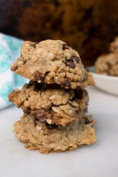 These Vegan Oatmeal Cookies Are Bursting With Chocolate Chips Oats