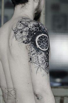 The best simple geometric tattoo Die Besten einfaches geometrisches Tattoo The best simple geometric tattoo - Geometric Sleeve Tattoo, Geometric Tattoo Design, Geometric Tattoos Men, Geometric Tattoo Shoulder, Geometric Tattoo Simple, Hexagon Tattoo, Sketch Style Tattoos, Tattoo Style, Tattoo Sketches