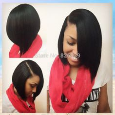 150% Density Short 100% Virgin Indian Human Hair Lace Front Bob Wig Straight Bob Wigs For Black Women With Side Bangs