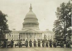 c1917 Washington D.C. City Motorcycle Cops/ Policemen US. Capital -Antique-Old-Vintage B&W Reproduction Photograph: Gicclee Print. Frame it!...